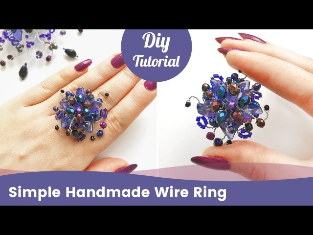 How to Make a DIY Ring. Simple Handmade Ring from Beads.