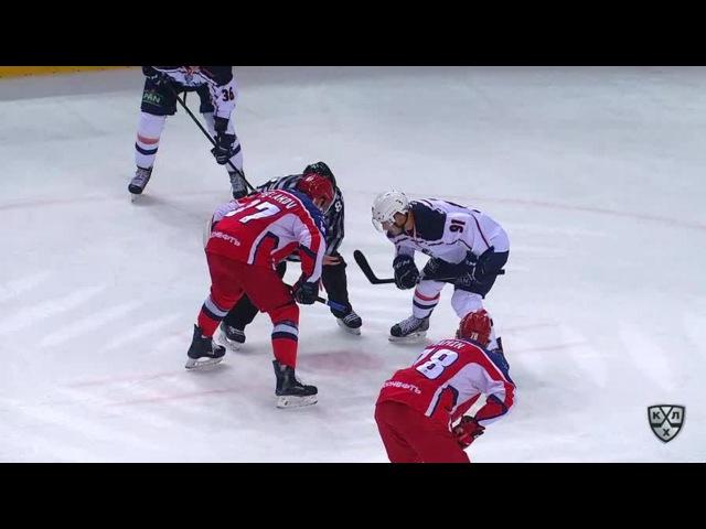 Моменты из матчей КХЛ сезона 16/17 • Удаление. Горан Безина (Медвешчак) удалён на 2 минуты за задержку клюшкой 25.10