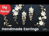 How to Make DIY Bridal Earrings. Easy &amp Quick Wedding Pearl Earrings Eng Subs