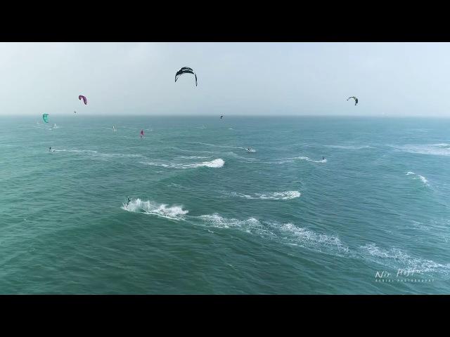 Kite surfing at Haifa 22 knots