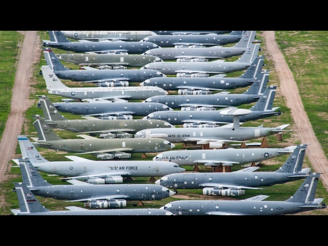 World's Largest Aircraft Boneyard - Davis-Monthan AFB Aerial View | Time Lapse