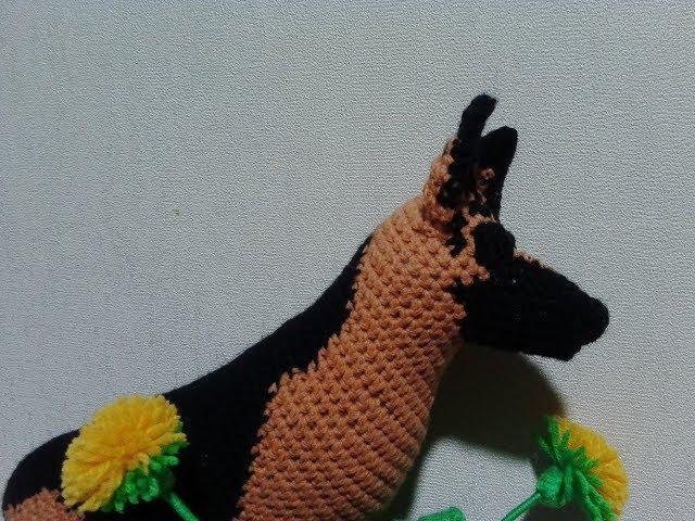 Немецкая овчарка, ч.2. German Shepherd, р.2. Amigurumi. Crochet. Амигуруми. Игрушки крючком.