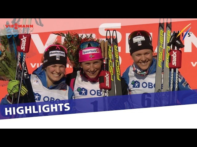 Heidi Weng clinches Overall globe as Marit Bjoergen wins pursuit in Falun | Highlights