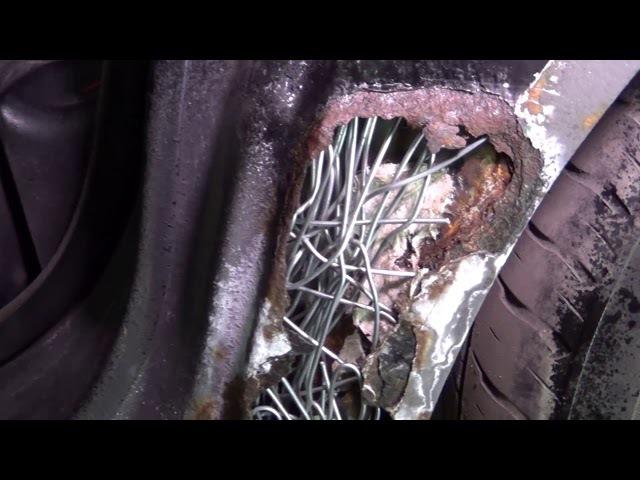 Как маскируются большие дыры в кузове БМВ е34