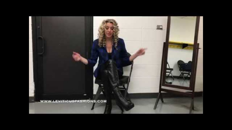 SHAWNA MARIE AND LEVITICUS FASHIONS BLACK THIGH BOOTS