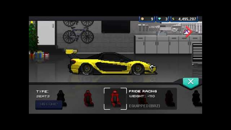 Pixel Car Racer - P1 Gtr ! Supercar livery
