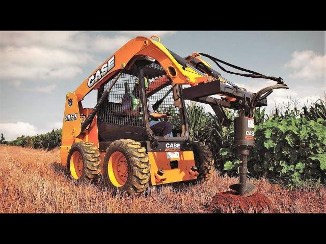CASE SR175 (аналоги BOBCAT S550, JOHN DEERE 316GR) - радиальный мини-погрузчик 835 кг