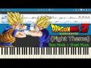 Fight Theme - Dragon Ball Z [Slow Sheet Music] (Piano Tutorial)