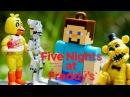 FREDDY 5 nights derlemesi! Bilgisayar oyunları! Minecraft videoları. Animatronic saldırışı fnaf