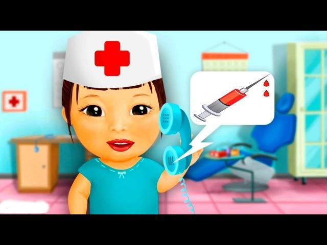 ИГРАЕМ В ДОКТОРА С УКОЛАМИ Лечим зубы Развлекательное Видео Для Детей Гамикс