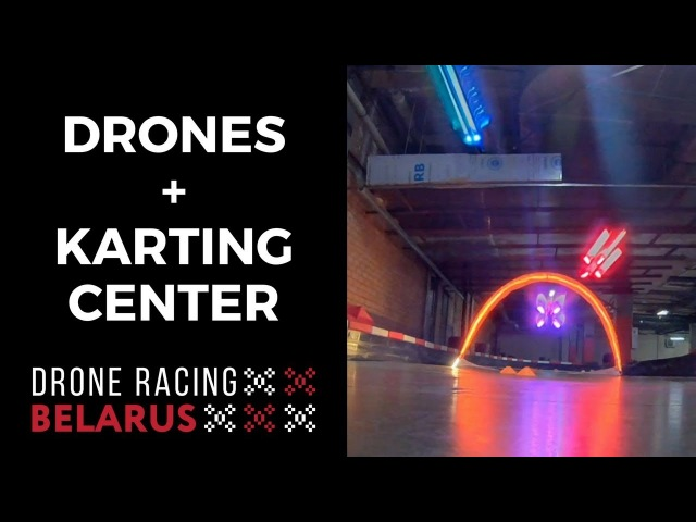 Droneracing in the underground karting