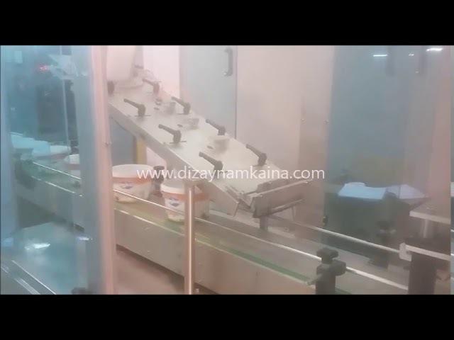 BUCKET FILLING AND SEALING MACHINE PLATEN SYSTEM KOVA DOLUM VE KAPATMA MERDANE SİSTEMİ