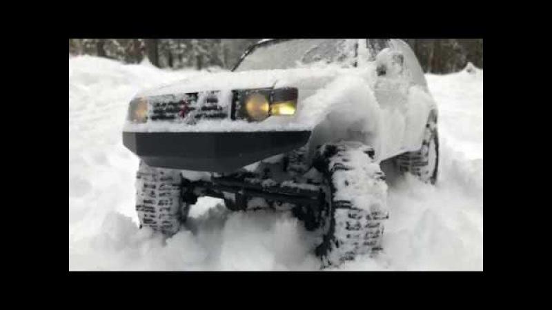 Rc scale studio 4x4 MST CFX Mitsubishi Pajero Raid slo-mo snow run