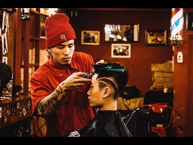 Blunt Fringe with some Tattoo Hair [Liem Barber Shop's Collection]
