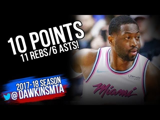 Dwyane Wade Full Highlights 2018.02.13 at Raptors - 10 Pts, 11 Rebs, 6 Asts! | FreeDawkins