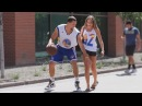 Известный баскетболист играет с прохожими BigDaws и Хуан