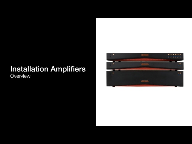 Installation Amplifiers | Overview