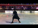 Johnny Weir performing Creep at Glitter, Glam and Gold Skate Night at Bryant Park 1112018