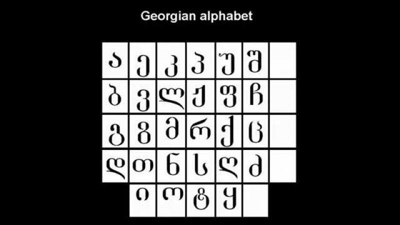 Georgian Alphabet - ქართული ანბანი