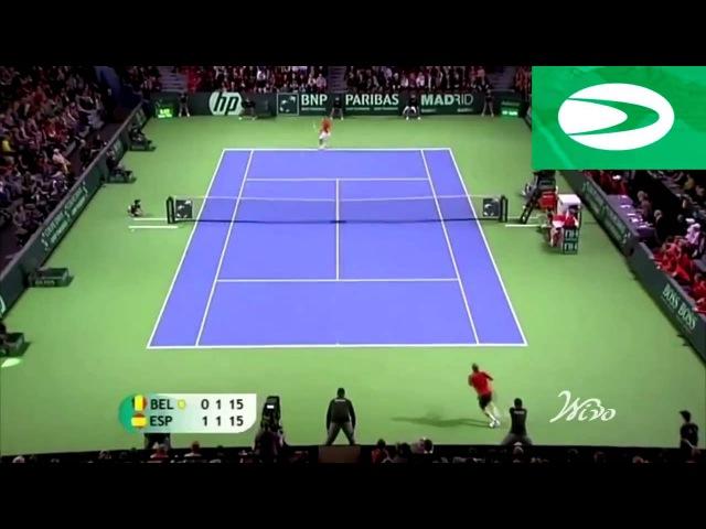Awesome Tennis 42-Shot Rally - Nadal vs Rochus Davis Cup 2011