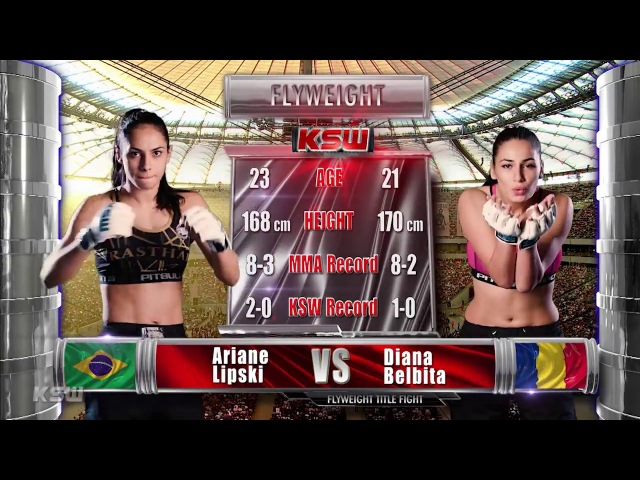 KSW Free Fight: Ariane Lipski vs Diana Belbita at KSW 39