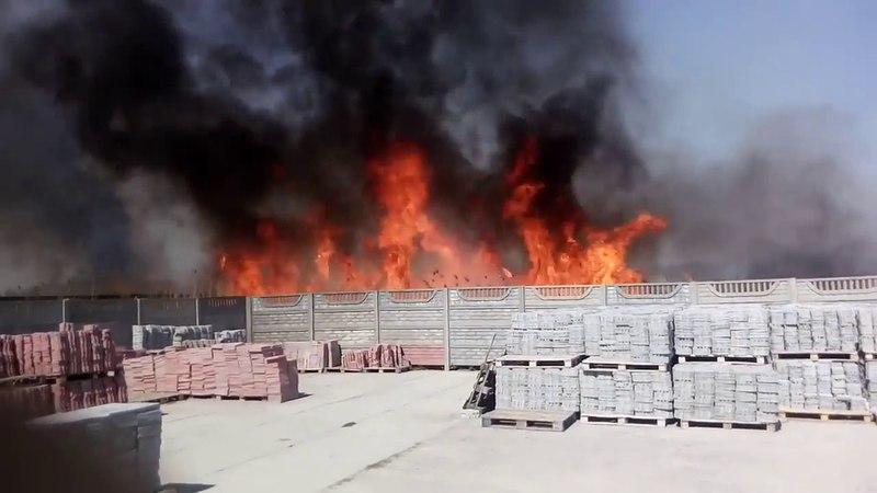 Срочно! Пожар на Тростянском лугу в Балашове