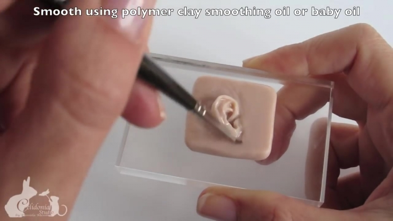 How to sculpt the Ear - OOAK Polymer Clay Tutorial - Sculpting Particulars 1