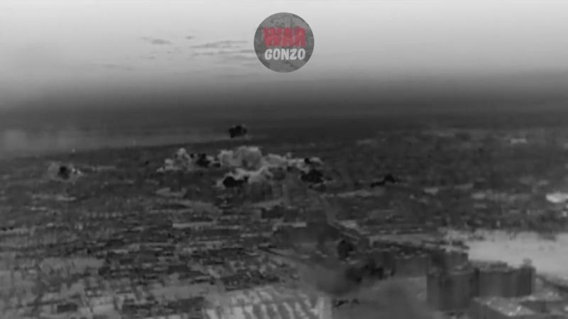 ЭКСКЛЮЗИВ! Ракетный удар по Гуте. Видео БПЛА разведки