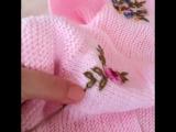 Вышивка рококо по трикотажному полотну