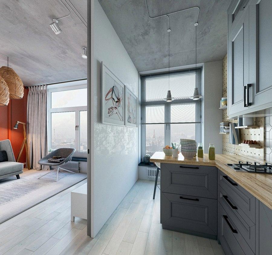 Концепт квартиры 24-27 м (по разным источникам).
