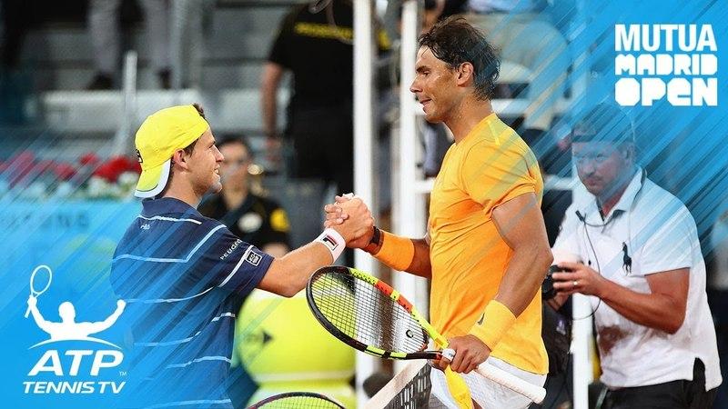 Nadal breaks set record; Lajovic stuns Del Potro | Madrid 2018 Highlights Day 5
