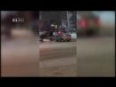 09.12.17 Hyundai Solaris протаранил киоск с шаурмой рядом с Оперным театром.