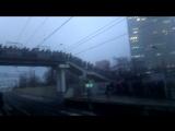 Час пик, 8 утра. На платформе, после выхода с электрички с Подмосковья в Москву.