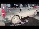 Efrinde işgalci Türk ordusu tarafından bombalanan sivil konvoy