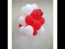 Шикарный фонтан из белых и красных шариков новиночка изогнутое фальгированное сердце❤ за заказ спасибо @ steguramarina_numerol