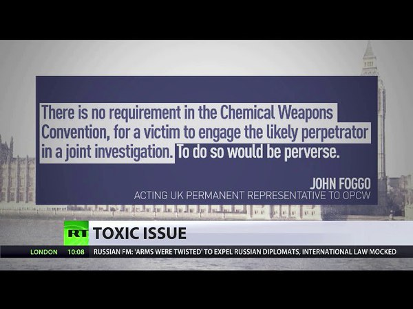 RUSSIAN OPCW ENVOY THEY FEAR TAKING RESPONSIBILITY FOR THEIR ACCUSATIONS
