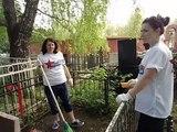 уборка могил на Воздвиженском кладбище 07.05.2018