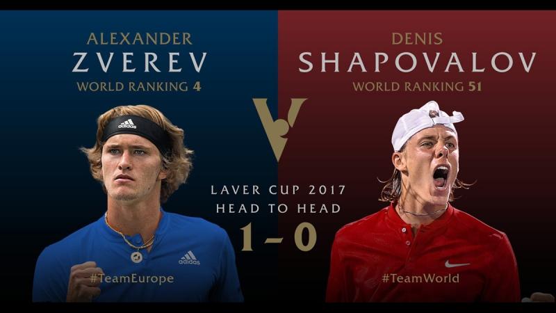 Александр Зверев - Денис Шаповалов. Tennis. Laver Cup. LIVE