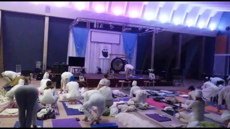 Садхана 21.04.18 на тренинге Учителей КЙ