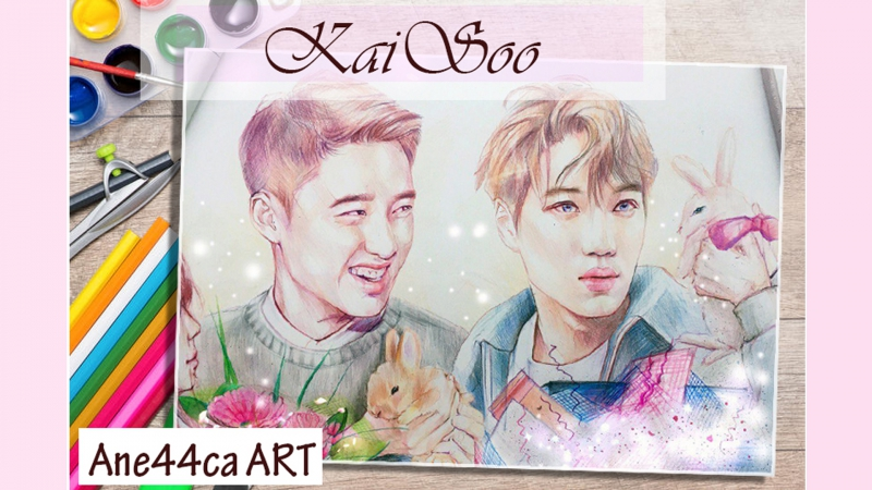KaiSoo drawing (by Ane44ca ART)