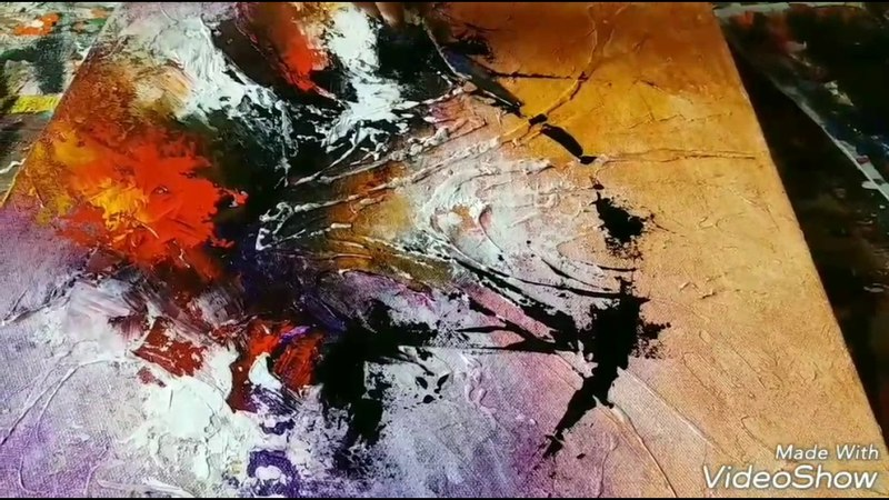 New Acrylic abstract painting Abstract art demonstration techniques