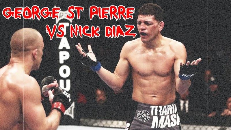 George St Pierre vs Nick Diaz [FIGHT HIGHLIGHTS]