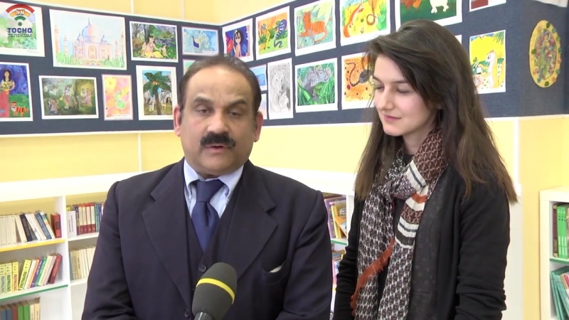 Генеральный консул Индии в Санкт-Петербурге посетил г.Тосно и рассказал школьникам о Индийской культуре
