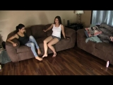 Two Women Stuck In Two Pairs Of Toe Cuffs.mp4