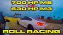 BMW Tuner Battle - 700HP Dinan M6 vs 630HP JB4 M3 Roll Racing - 4 Races