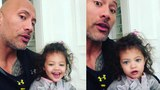 Dwayne Johnson teaches daughter Jasmine about girl power in the cutest fashion