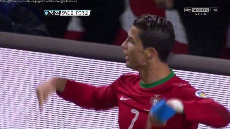 Хет-трик Криштиану Роналду в матче со сборной Швеции (2013 год)