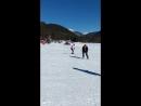 Архыз (02.02.2018) Итоги первого дня катания на сноуборде.