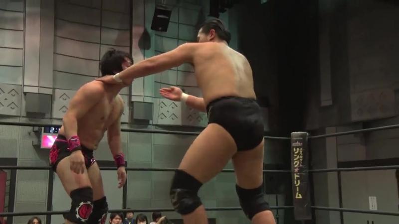 HARASHIMA, Keisuke Ishii vs. Kazusada Higuchi, MAO (DDT - Dramatic Age, Age, Ageo)