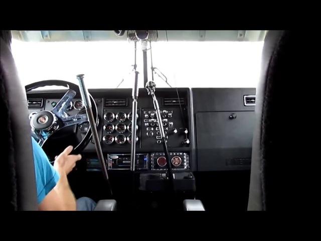 Старые механические коробки передач,Жесть,Переключение передач на Kenworth W900L